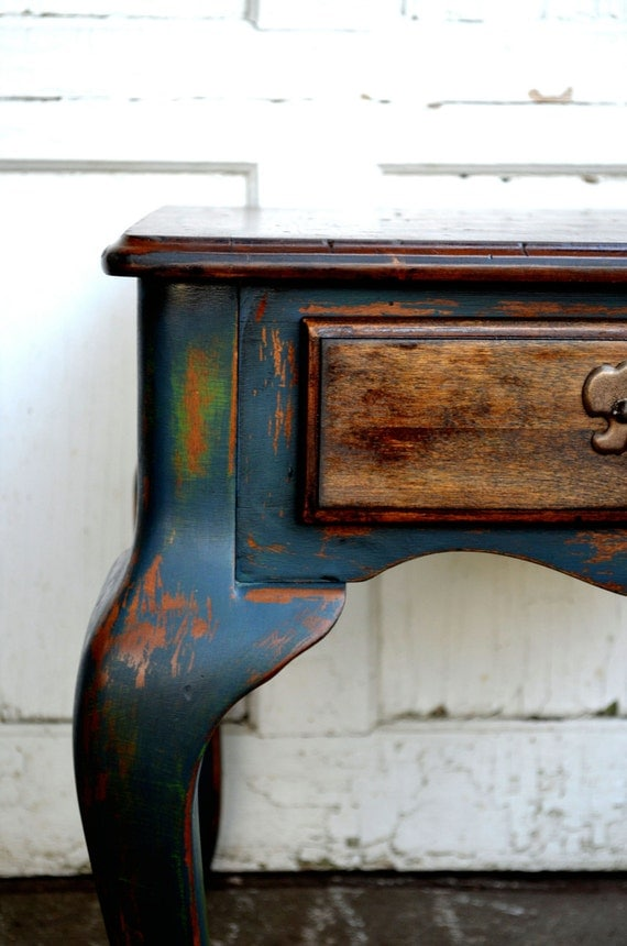 Chalk Painted Rustic Shabby Cottage Chic Distressed Furniture