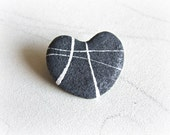 Heart of stone brooch Eco...