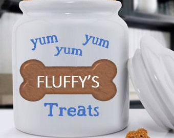 Personalized Classic Dog Treat Jars - Yummy Treat Jar - Pet Gifts - RO121