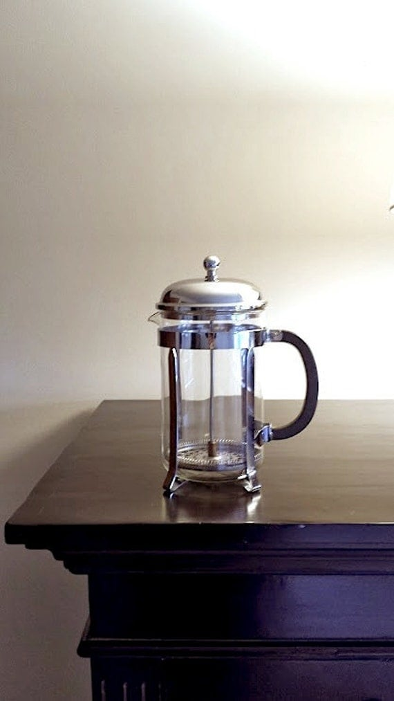 vintage bodum 12 cup french coffee press 51oz with chrome. Black Bedroom Furniture Sets. Home Design Ideas
