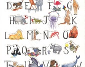Educational Child's Alphabet Poster 18 x 24
