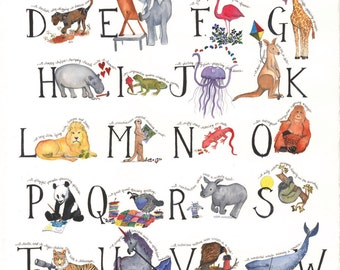Educational Child's Alphabet Poster 18 x 24