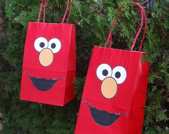 12 Elmo Birthday Party Favor Bags!!!