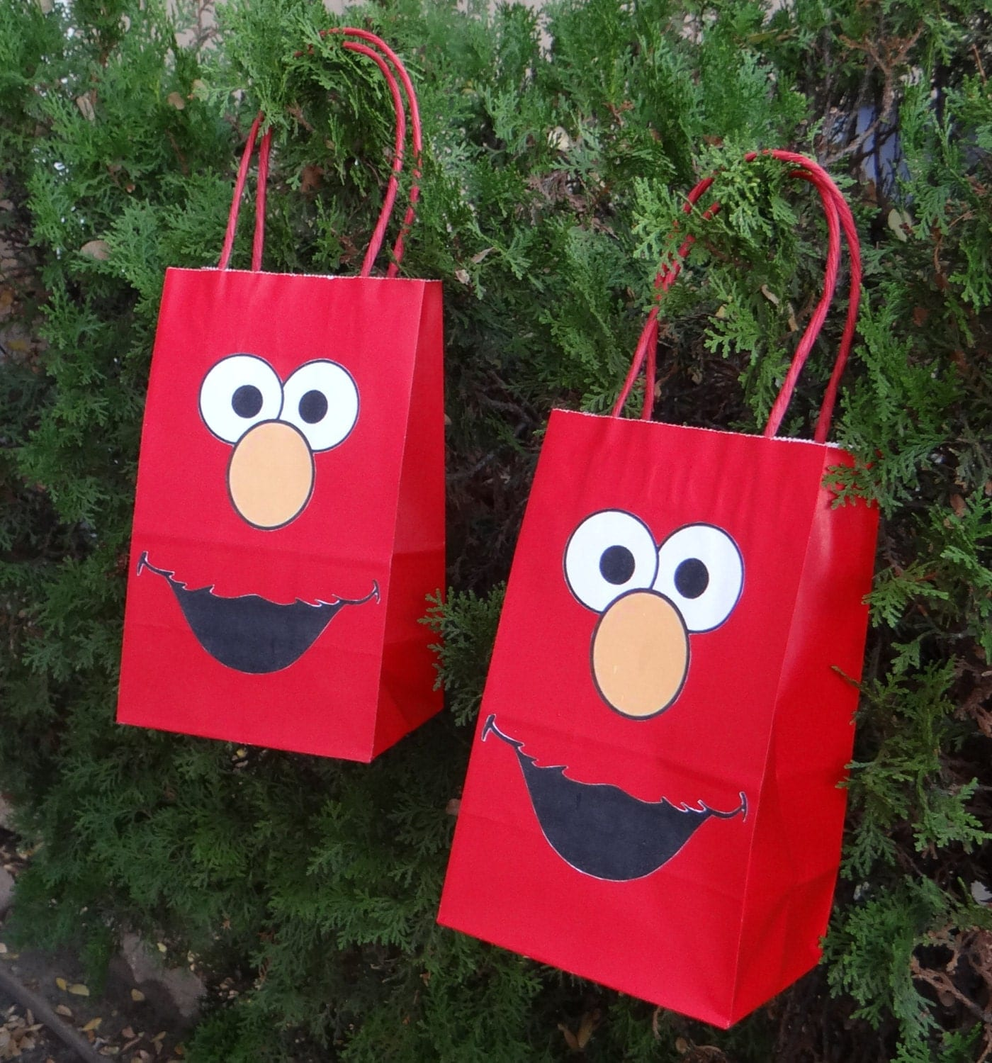 12 Elmo Birthday Party Favor Bags