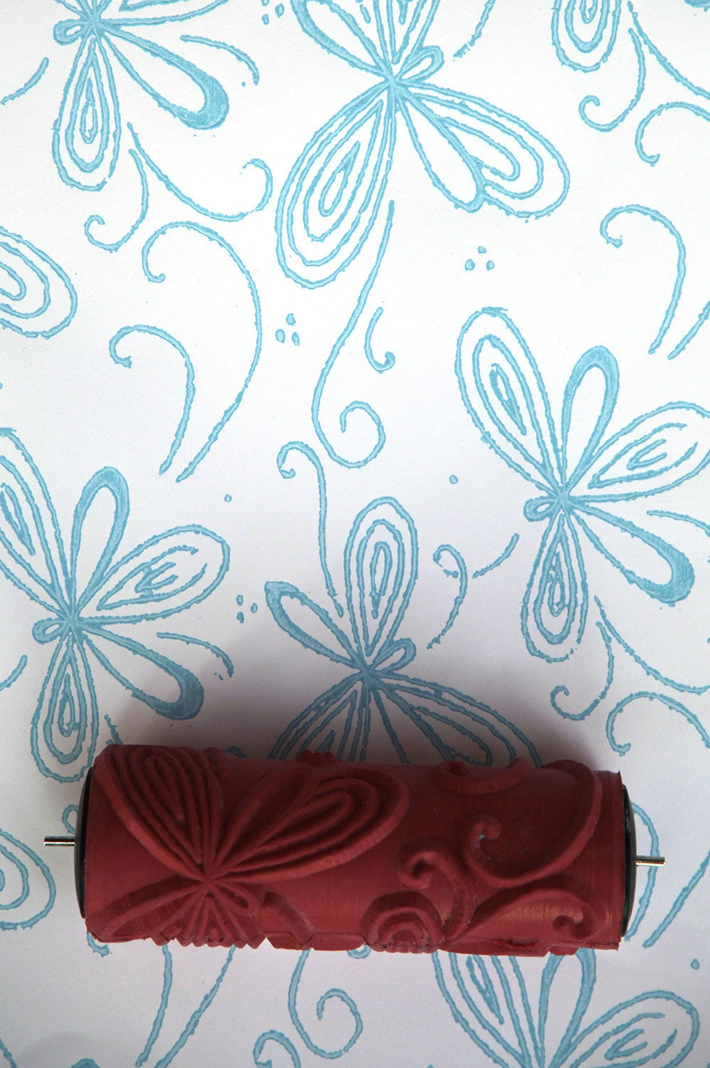 Patterned paint roller for home decor by haubenart on etsy for Paint roller designs home depot