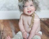 Parka hat, crochet hat, photography prop, christmas hat, furry, fur lined (Newborn 0-3 Month, 3-6 Month, 6-12 Month)