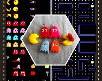 Polymer Clay Mini PacMan Charms Set Now Sold Separately