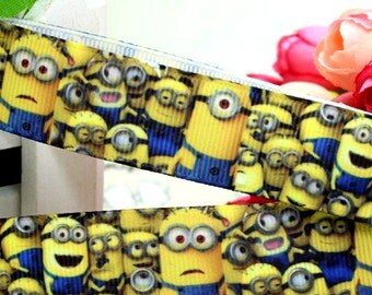 2m Despicable Me Inspired Minion Printed Grosgrain Ribbon