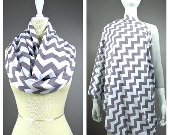Chevron Nursing Cover, Nursing scarf, Nursing Scarf, Nursing Cover Scarf, Nursing Infinity Scarf, Breastfeeding Cover