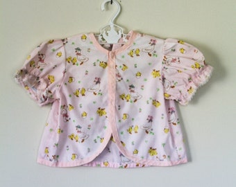 1980s Baby Girls Mother Goose Homemade Bed Jacket