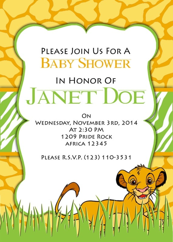 blank lion king baby shower invitations the hippest