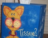 PATTERN for Cat and Dog Tissue Box Covers Painted on Paper Mache Boxes