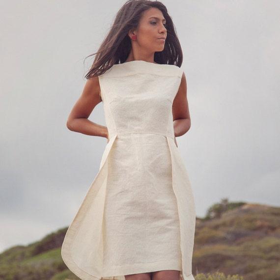 Molto Articoli simili a Abito da sposa, abito in lino, abito di cotone  OT29