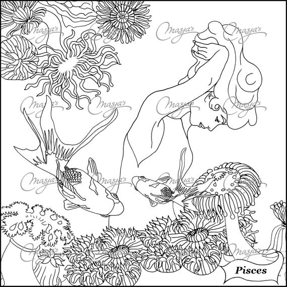 astrological signs coloring pages - photo#33