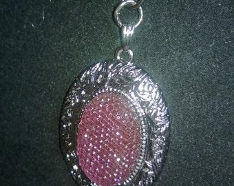Purple Faux Drusy Pendant Necklace