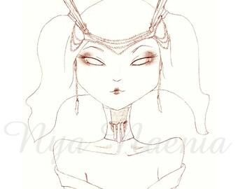 New Age Geisha 8x10 Lustre Art Print