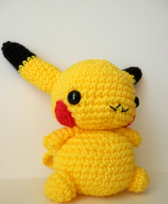Crochet Pikachu Inspired Chibi Pokemon by MissJennysCrochet