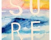 Sunset beach - surf, ocea...