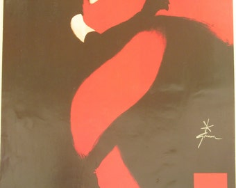 Original Vintage Rene Gruau Rouge et Noir Poster