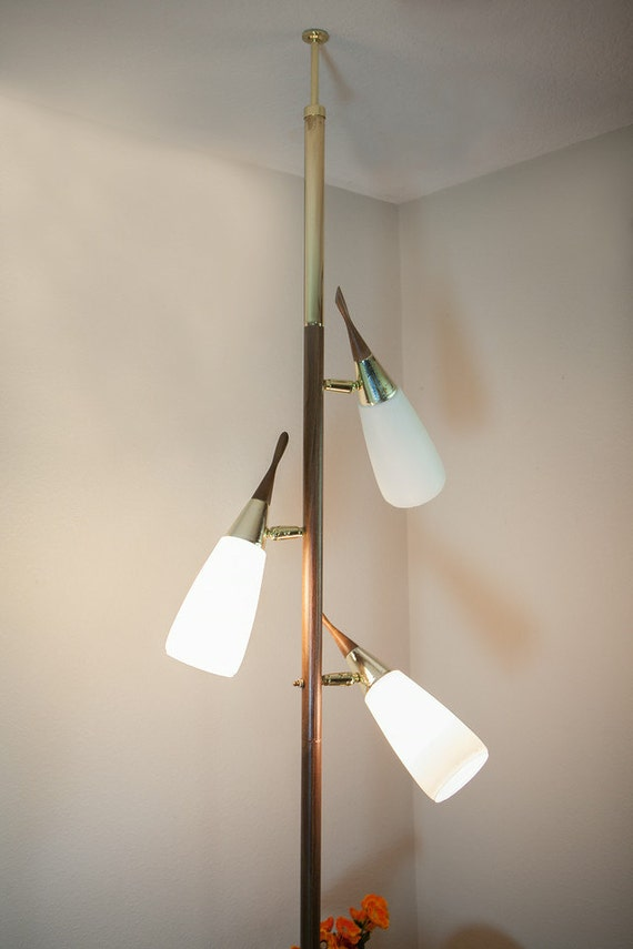 Reserved Mid Century Modern Tension Pole Lamp 1960s Danish