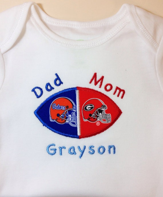 Personalized House Divided Baby Football Bodysuit Shirt Burp
