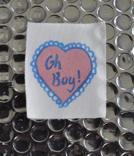 Kitsch 'Oh Boy!' Fabric Patch