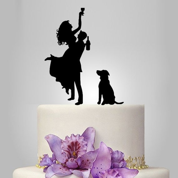 wedding cake topper silhouette with dogs wedding cake topper silhouette silhouette by walldecal76 26501