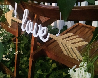 True Love - Wedding Chair Signs