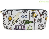 Long Zippered Bag | Bag for Pens | Pencil Case | Pencil Pouch | Zipper Bag | Makeup Bag | Wizard Bag | Bag for Pens