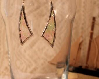 Crystal Clear Sail Glass Earrings