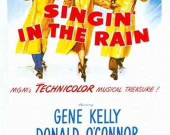 Singin in the Rain Movie Poster Digital Print Various Sizes