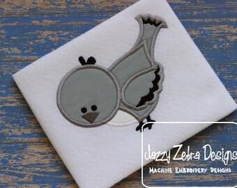 Texas Mocking Bird Appliqué embroidery Design - bird Applique Design