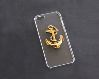 Nautical iPhone 5 Case iPhone 5s Nautical iPhone5 Anchor iPhone6 Anchor iPhone 6s iPhone 7 Anchor Nautical Clear Transparent iPhone 6 Plus