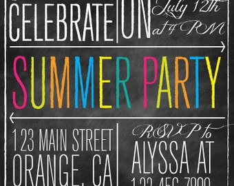 Let's Celebrate Summer Party Invitation