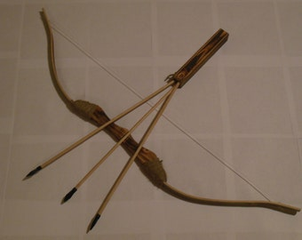 Children 38 5 Quot 2 Wooden Bamboo Bows 12 Arrows 2 Quivers