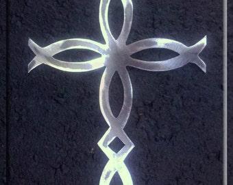 Fish Metal Art  Cross