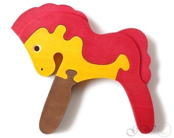Wooden Puzzle Pony, Wooden toys. Wooden Animal Puzzle, Horse Puzzle M206