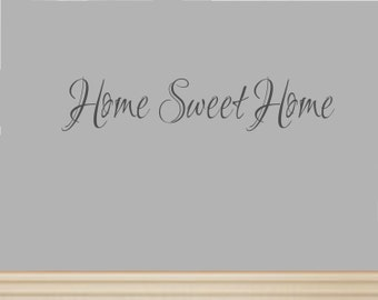 Home Sweet Home Decal #5 Vinyl Home Sweet Home Vinyl Wall Decal-Home Sweet Home Sticker-Foyer Decor-Foyer Decal-Foyer Wall Decal-Foyer Art