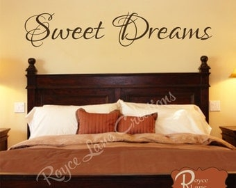 Sweet Dreams Vinyl Bedroom Wall Decal