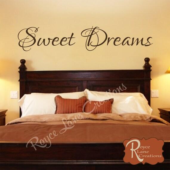 Bedroom Decal Sweet Dreams Vinyl Bedroom Wall Decal
