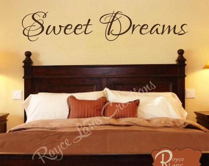 Sweet Dreams Vinyl Bedroom Wall Decal