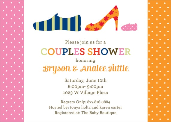 to pink shoes couples baby shower invitation diy printable on etsy