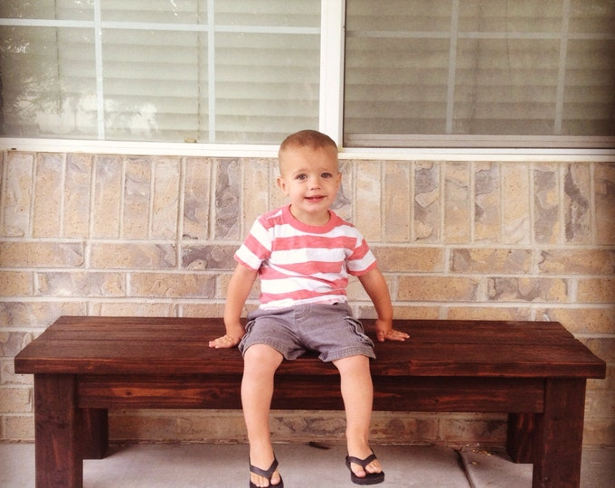 Wood Bench - Kids Wood Bench - Front porch bench