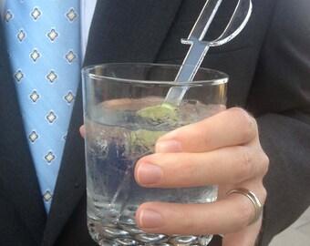 Custom Monogrammed Drink Stir Sticks, set of 25.
