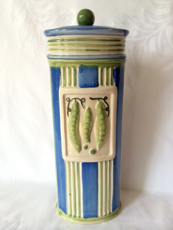 ceramic pasta canister vintage italian pasta canister hand