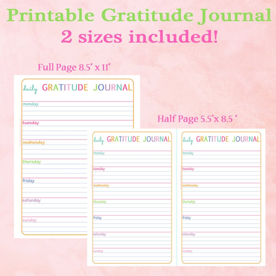 This is an image of Dramatic Gratitude Journal Printable