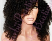 Nigerian Afro Kinky Curly Wig * Virgin Remy U-Part Wig * Human Hair * Many Lengths Available * Easy To Blend With Natural African American