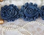 Shabby Denim Flowers - Sample Set (4)