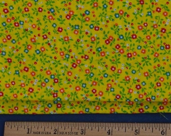 Yellow Calico Print Fabric