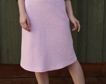 Linen Skirt Light Pink Skirts Romantic Secretary Skirt Summer Skirt
